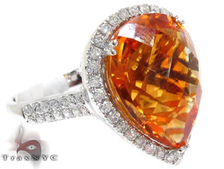 orange color gemstone ring 22383