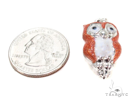 Owls Silver Pendant 36345 Metal