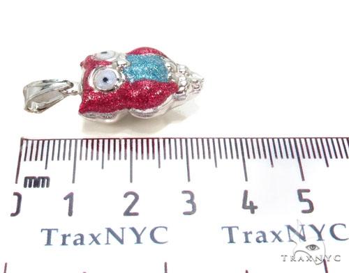Owls Silver Pendant 36347 Metal