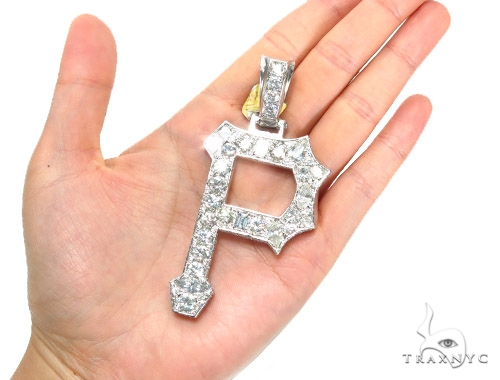 'P' Diamond Pendant 42029 Metal
