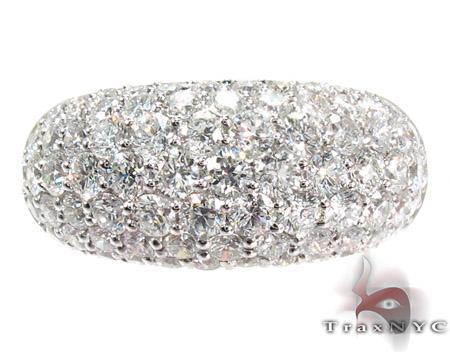 Pave Bubble Diamond Small Ring Anniversary/Fashion