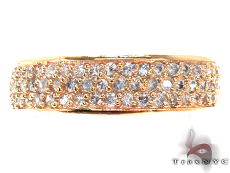 Pave Clear CZ Gold Plated Eternity Ring 21315 Anniversary/Fashion