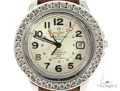 Pave Diamond Breitling Watch 56383 Breitling