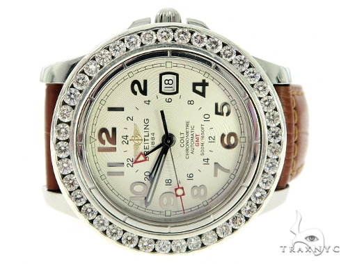 Pave Diamond Breitling Watch 56383 Breitling