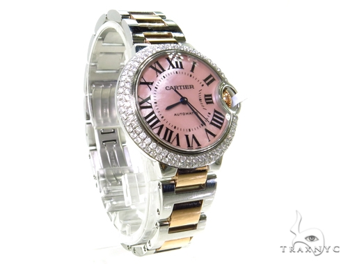 Pave Diamond Cartier Ballon Blue Pink Dial  Watch Cartier