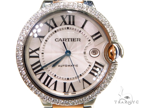Pave Diamond Cartier Ballon Blue Watch Cartier