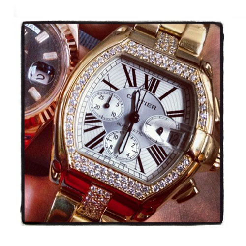 Pave Diamond Cartier Roadster Watch Cartier