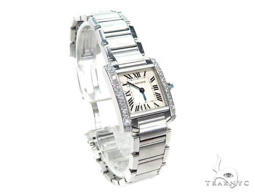 Pave Diamond Cartier Tank Ladies Watch 41060 Cartier