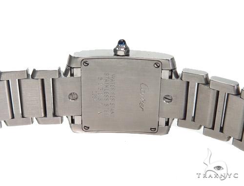 Pave Diamond Cartier Tank Ladies Watch 41060 Cartier