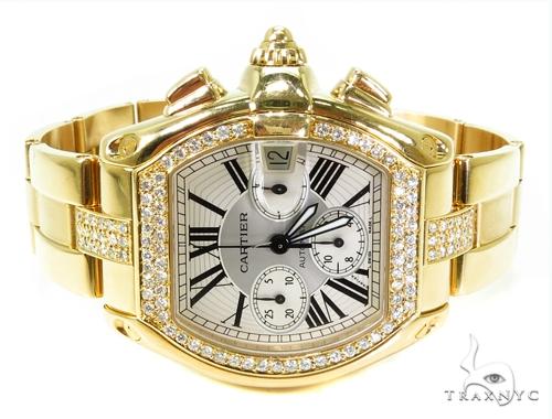 Pave Diamond Cartier Roadster Watch Cartier