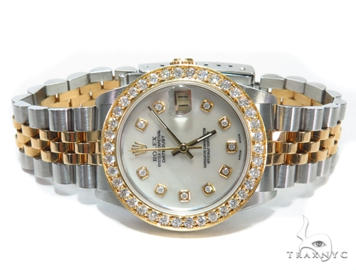 Pave Diamond Datejust Rolex Watch 41588 Rolex Collection