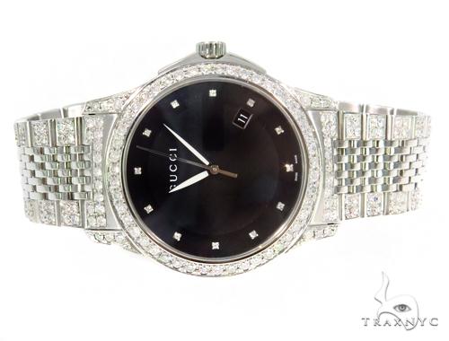Pave Diamond G Timeless Collection Medium Version Gucci Watch  YA126405 45314 Gucci