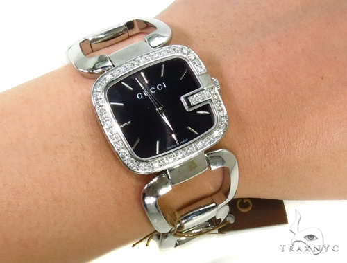 Pave Diamond Gucci Watch YA125407 Gucci