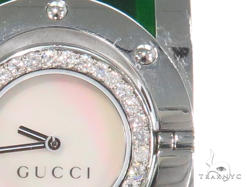 Pave Diamond Gucci Women's Watch YA112417 44144 Gucci