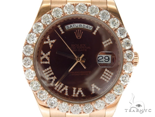 Pave Diamond Rolex Day Date II Watch 42349 Diamond Rolex Watch Collection
