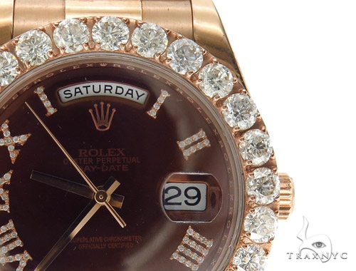 Pave Diamond Rolex Day Date II Watch 42349 Diamond Rolex Watch Collection