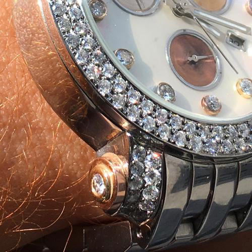 14k Three Tone Custom TraxNYC Watch 4.30 ct LIMITED 1 of 30 TraxNYC Watches