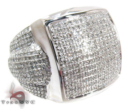 Pave Jumbo Diamond Ring Stone