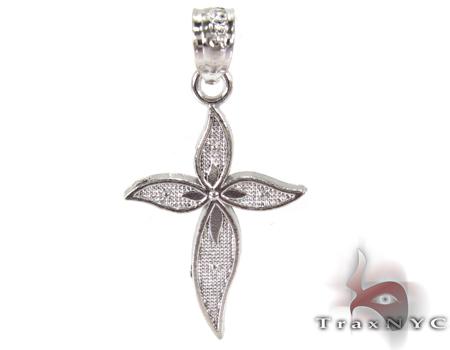 Petals Cross Silver Tiny Pendant シルバークロス