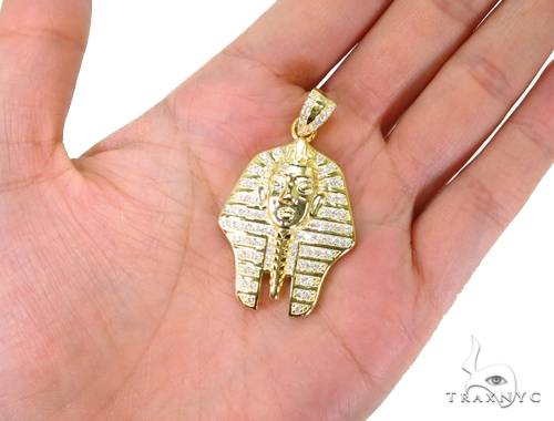 Pharaoh Sterling Silver Pendant 40319 Metal