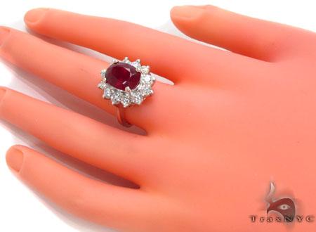 Pigeon Blood Ruby Diamond Set Anniversary/Fashion