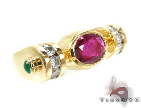 Pink Angel Wings Diamond Ring Anniversary/Fashion