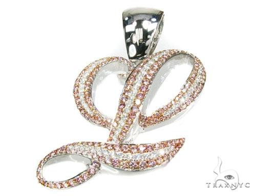 Pink L Pendant Diamond Pendants