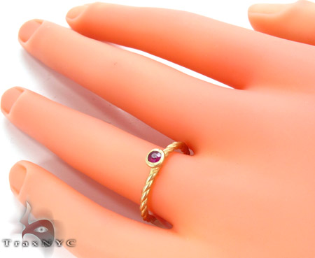 Pink Ruby Ring Anniversary/Fashion
