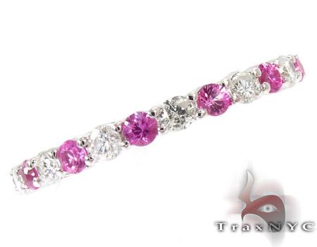 Pink Sapphire Diamond Ring Anniversary/Fashion