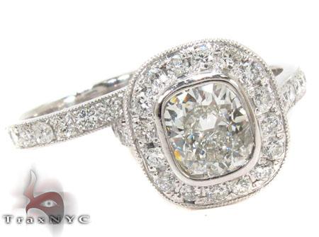 Platium E VS1 Diamond Ring Set Engagement