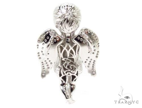 Praying Angel Silver Pendant 36598 Metal
