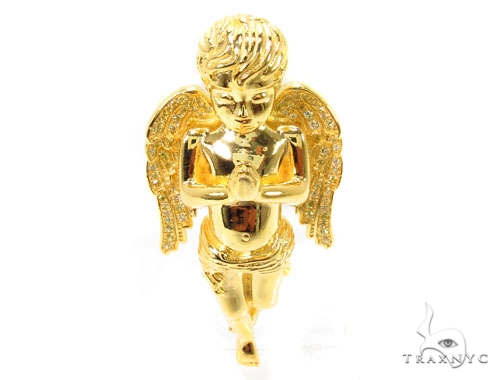 Praying Angel Silver Pendant 36599 Metal
