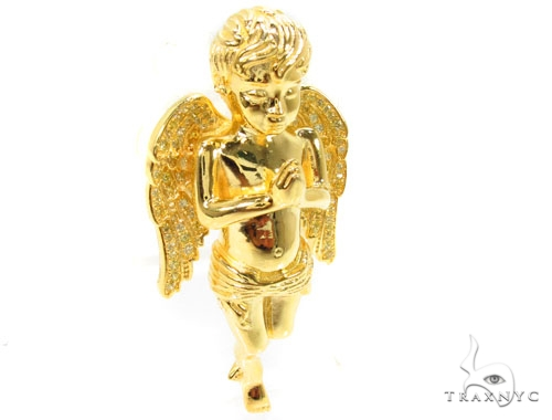 Praying Angel Silver Pendant 36599 Metal