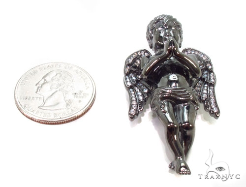 Praying Angel Silver Pendant 36601 Metal