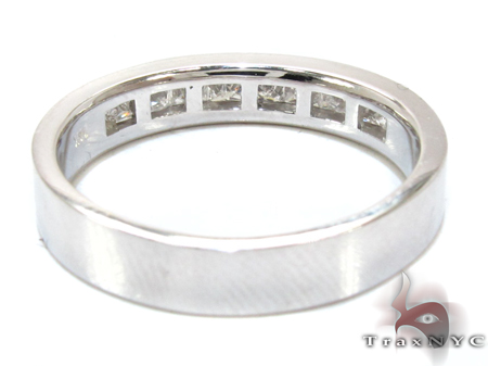 Simple but Marvelous Mens White Gold Diamond Wedding Band Wedding