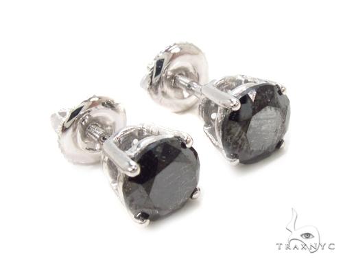 Prong Black Diamond Earrings 36019 Stone