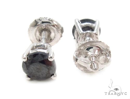 Pron Black Diamond Earrings 36020 Stone