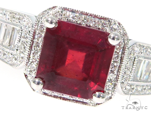 Prong Diamond Ruby Gemstone Ring 44839 Anniversary/Fashion
