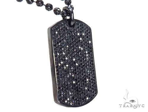 Black Diamond  Custom Photo Frame Moon Cut Chain 44900 Black Diamond Chains