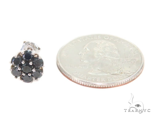 Prong Black Diamond Cluster Earrings 43891 Style