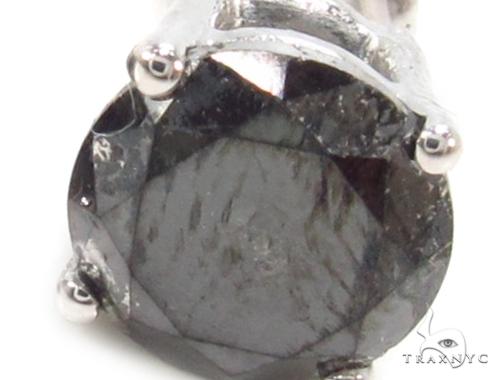 Prong Black Diamond Earrings 36010 Stone