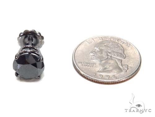 Prong Black Diamond Earrings 43159 Stone