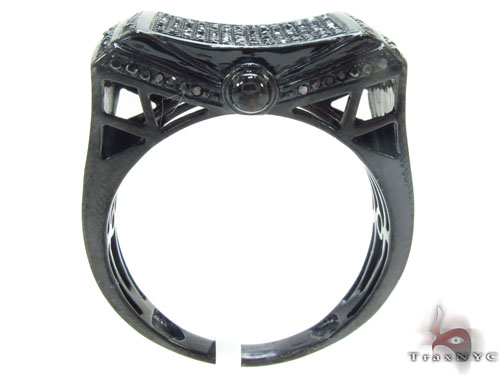 Prong Black Diamond Ring 34708 Stone