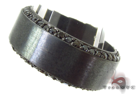 Prong Black Diamond Silver Ring 31700 Metal
