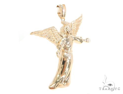 Prong Diamond Angel Pendant 45170 Metal