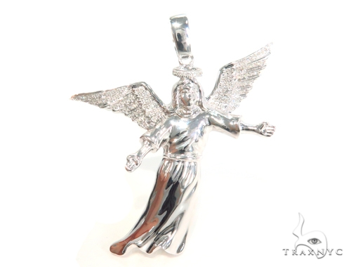 Prong Diamond Angel Pendant 45172 Metal