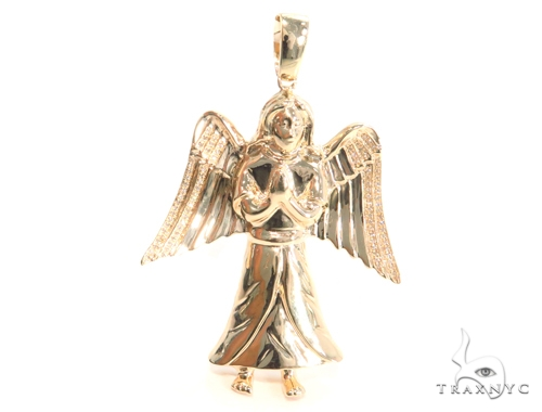 Prong Diamond Angel Pendant 45179 Metal