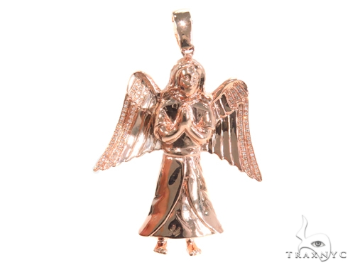 Prong Diamond Angel Pendant 45180 Metal