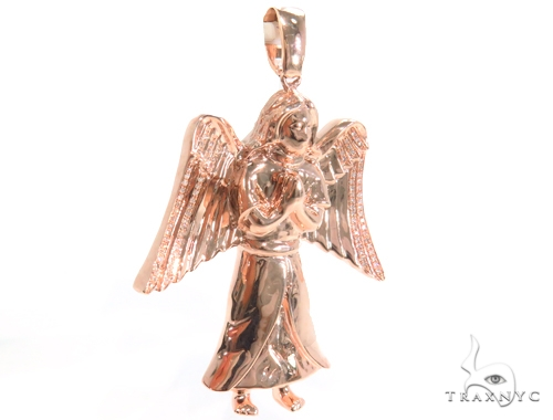Prong Diamond Angel Pendant 45180 Metal