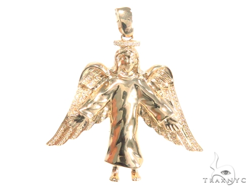 Prong Diamond Angel Pendant 45185 Metal
